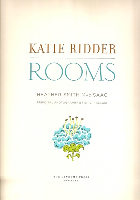 Katie Ridder Rooms Title Page