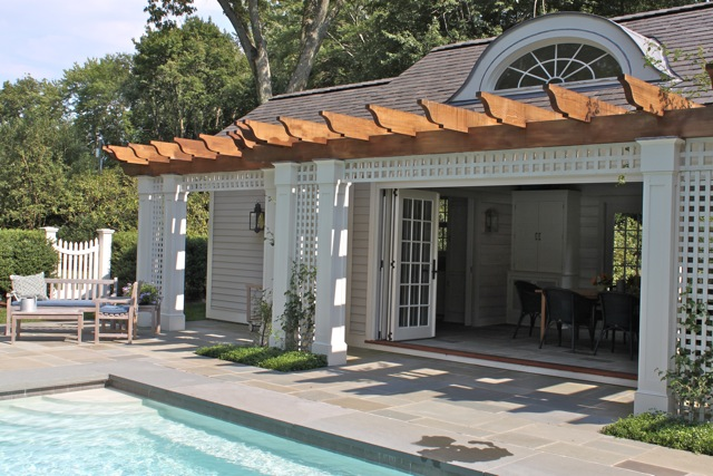 Pool House From Side Quintessence