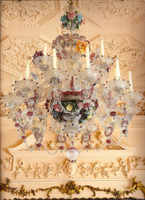 18th C Murano Chandelier At Dumfries House Jpg Quintessence