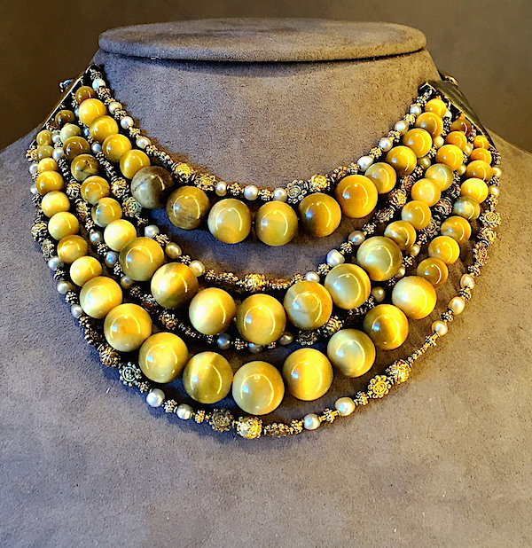 Belperron vintage Pagoda Bib Necklace