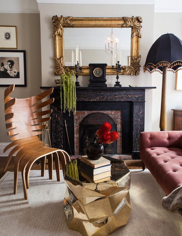 Caleb Anderson designed living room