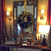 holiday bar at designer Lisa Hilderbrand's historic Connecticut home
