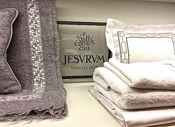 Jesurum luxury linens at E. Braun