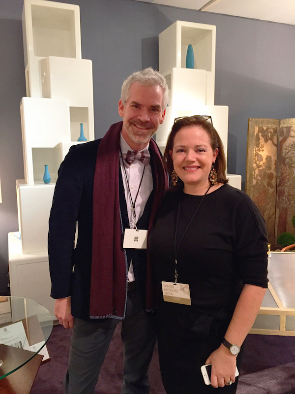 Jesse Carrier and Liz O'Briwn at the 2016 Young Collectors Night