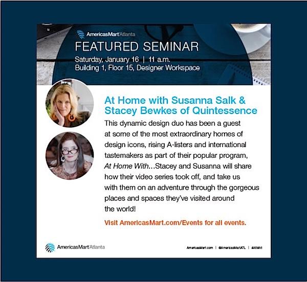 Susanna Salk and Stacey Bewkes at AMericasmart January Market