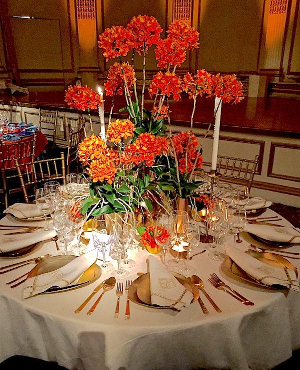 Beth Webb 2016 Orchid Dinner table