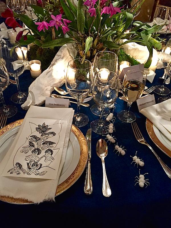 Brockschmidt & Coleman and Le Fleuriste 2016 Orchid Dinner table