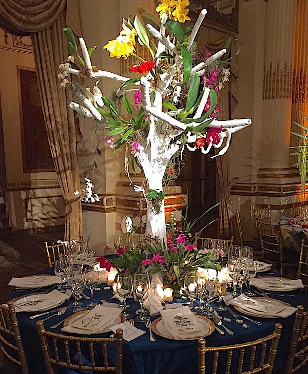 Brockschmidt & Coleman 2016 Orchid Dinner table