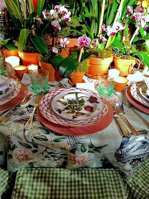 Danielle Rollins Botanical Garden Orchid Dinner table
