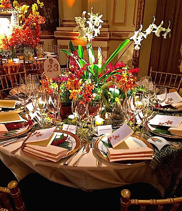 FlowerSchool New York 2016 Orchid Dinner table