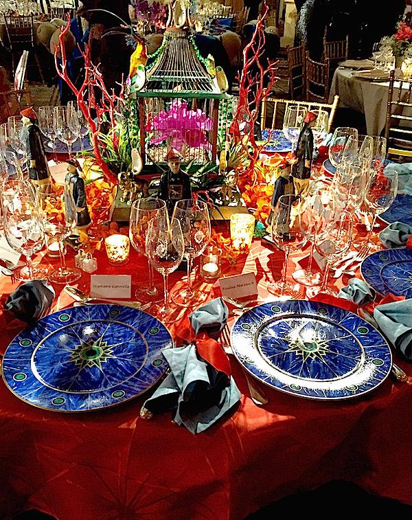 Hutton Wilkinson, Brett Leemkuil, Tony Duquette 2016 Orchid Dinner table