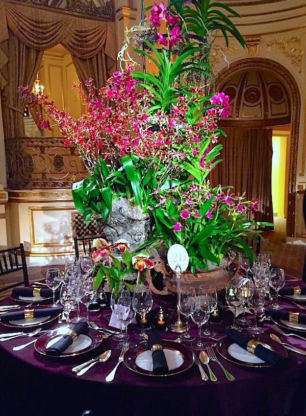 Lewis Miller Design 2016 Orchid Dinner table