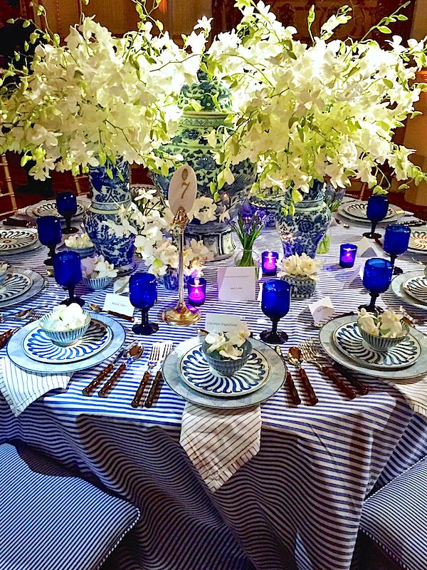 Mark Sikes Botanical Garden Orchid Dinner table