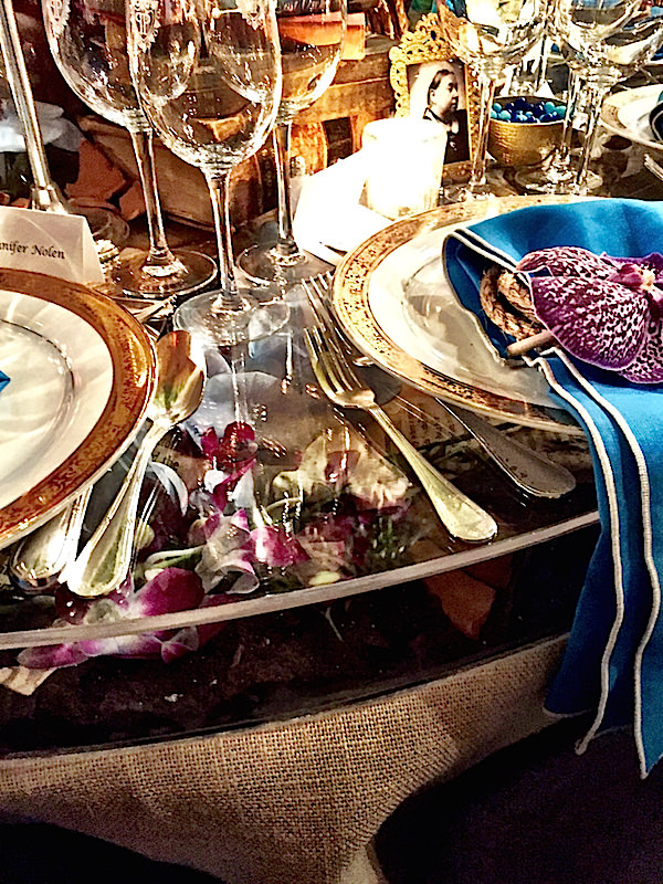 Cullman & Kravis Botanical Garden Orchid dinner table
