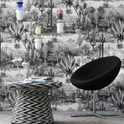 Pierre Frey black and white Pampa walllpaper