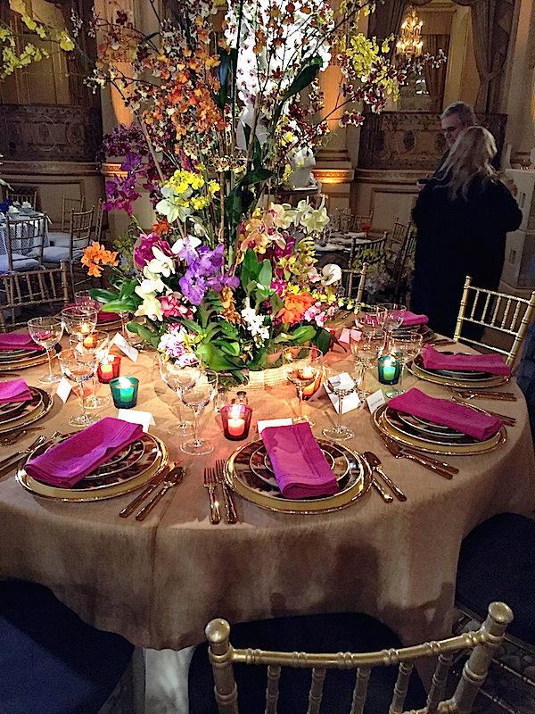 Ralph Lauren Botanical Garden Orchid Dinner table