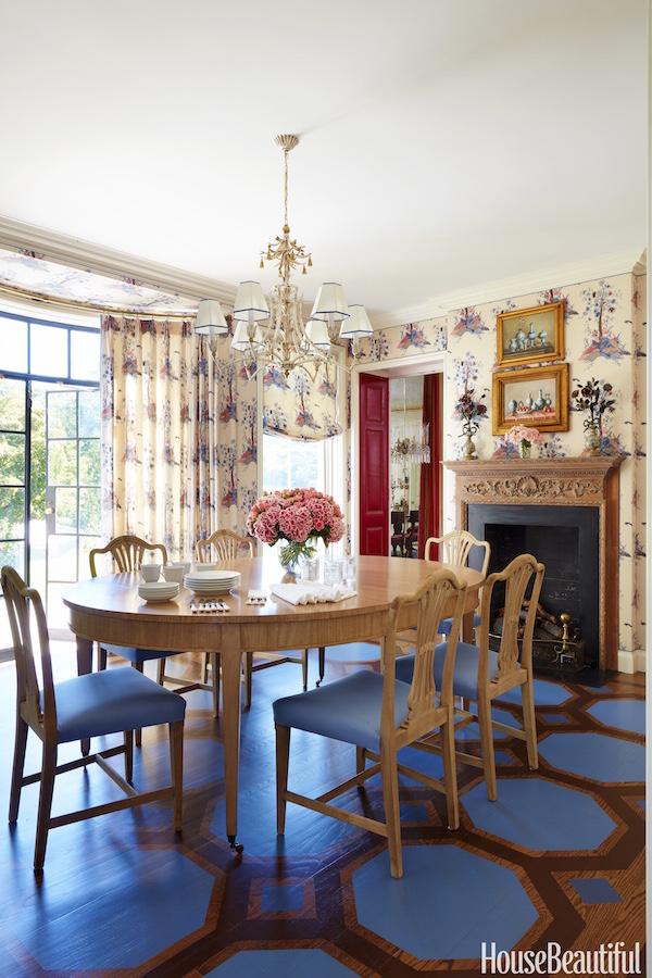 Christopher Maya designed Classic Georgian dining room in House Beautiful