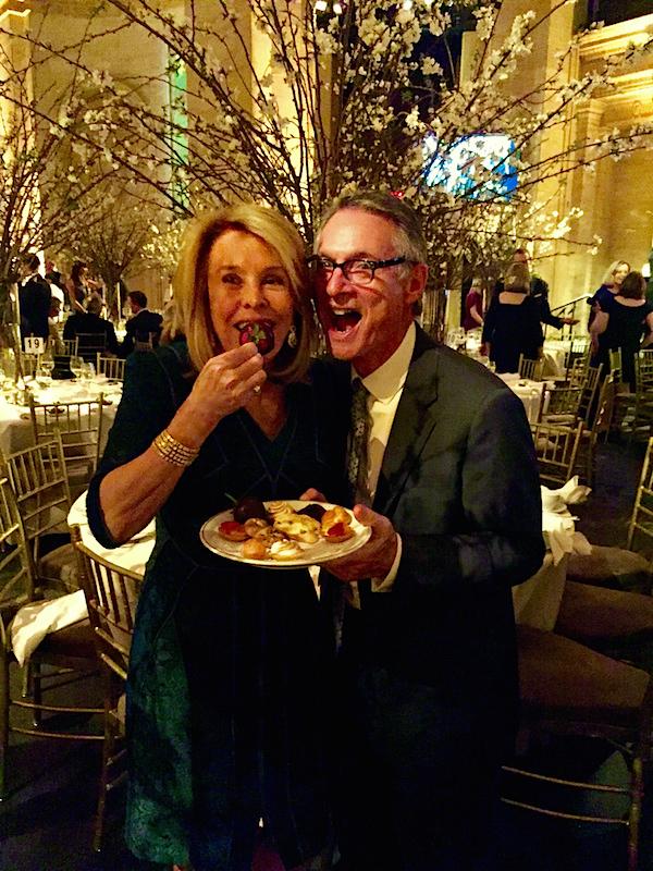 Ellie Cullman and husband at New York School of Interior Design gala