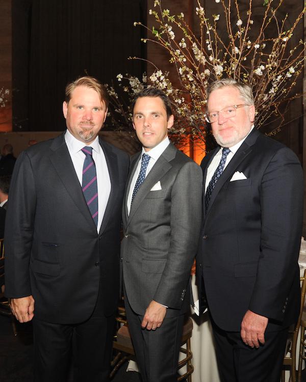New York School of Interior Design gala - Michael Phillips, David Sprouls, Newell Turner