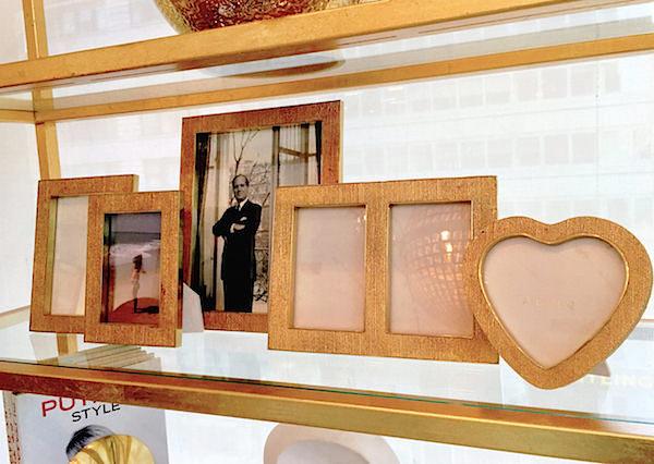 AERIN gold linen frames fall 2016 accessories