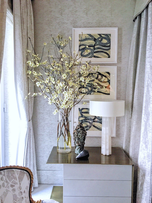 Detail of Drake Anderson Kips Bay bedroom