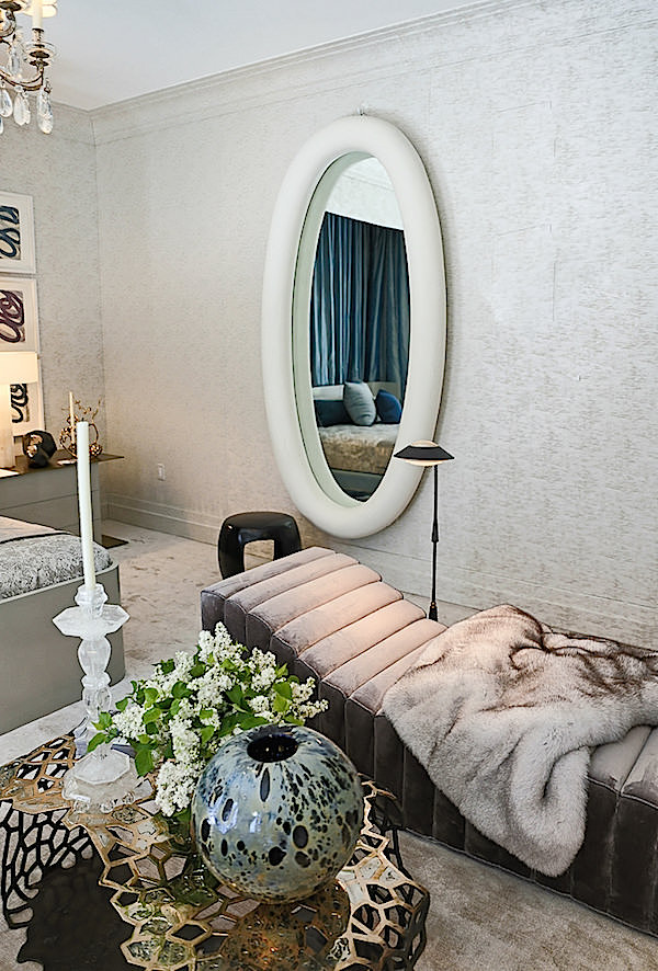 HM Luther mirror in Drake Anderson Kips Bay bedroom
