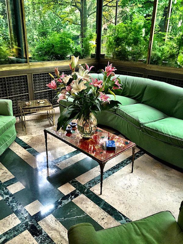 Villa Necchi garden room