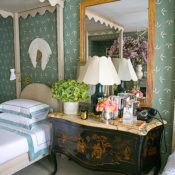 chinoiserie chest in Olasky & Sinsteden Kips Bay guest bedroom