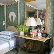chinoiserie chest in Olasky & Sinsteden Kips Bay guest bedroom