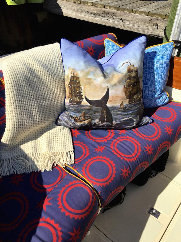 Audrey Sterk fabrics on Barton & Gray yacht