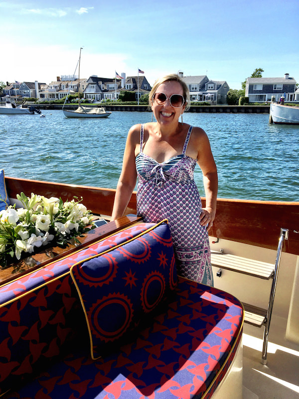 Audrey Sterk on her Barton & Gray decorated boat