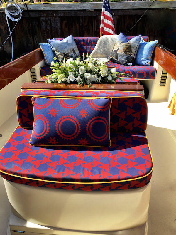 Barton & Gray Mariner's Club boat with Audrey Sterk furnishings