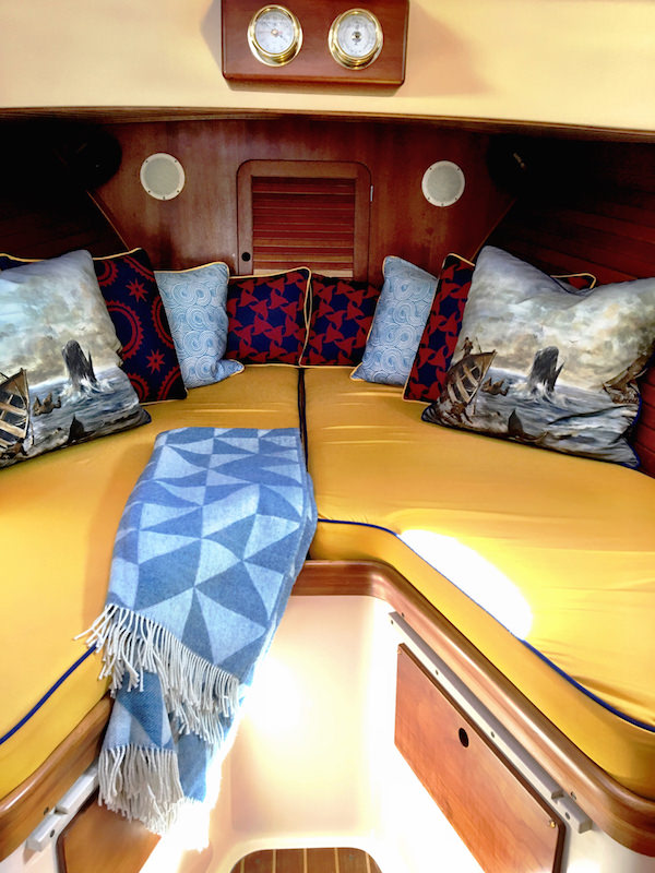 Barton & Gray yacht cabin with Audrey Sterk furnishings