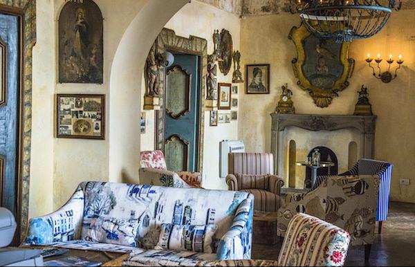 Excellence Villas - living room at Villa Andres, Positano-1