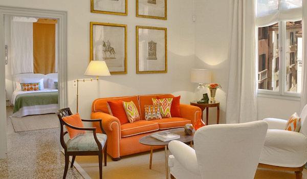 Excellence Villas - sitting area at Hayez apartment at Palazzo Ca'Nova Venice-1