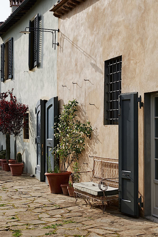 Fiona Corsini di San Giuliano's Tuscan home