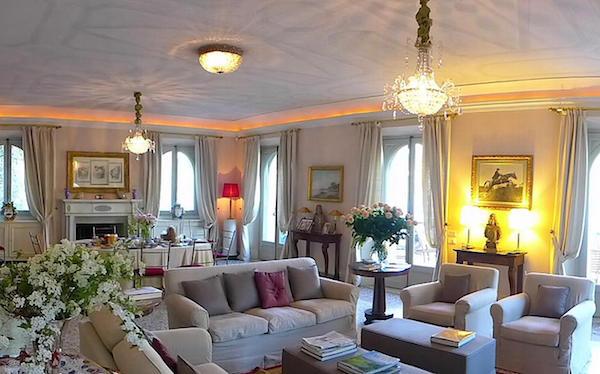 Living room Villa dell'Imperatrice Lake Como-1