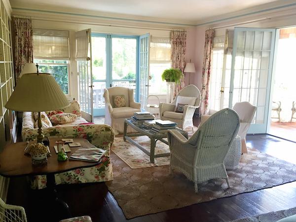 Living room at Grey Gardens