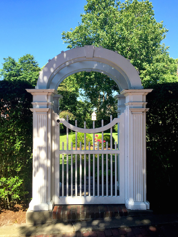 Nantucket home gate