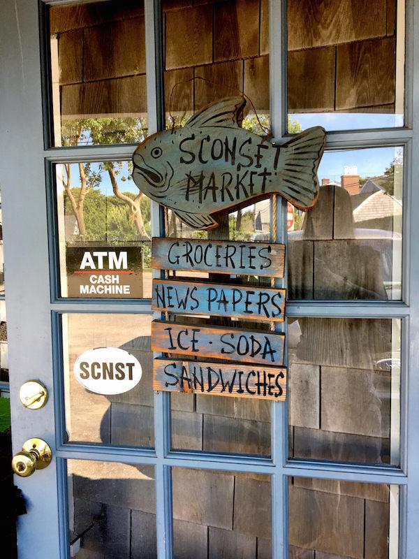 Sconset market door