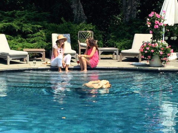 Susanna Salk & Liz Lange at Grey Gardens