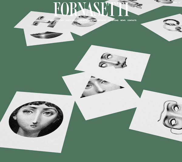 Websites that inspire - Fornasetti