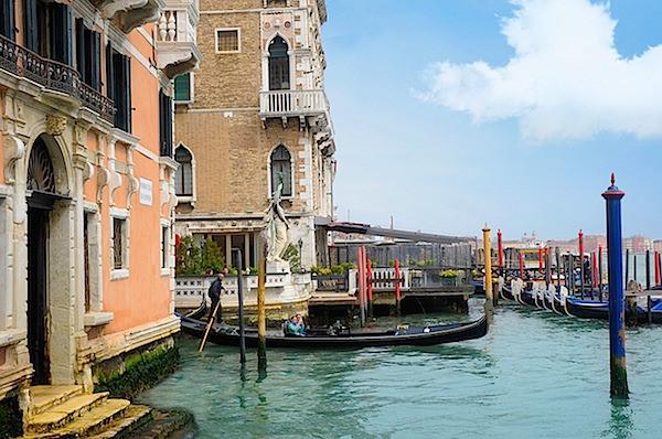 arriving by gondola at Palazzo Ca'nova Venice-1