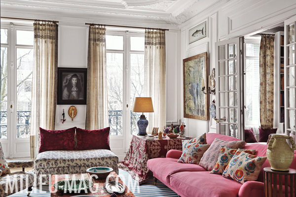 Carolina Irving Paris sitting room in Milieu magazine, photo by Miguel Flores-Vianna