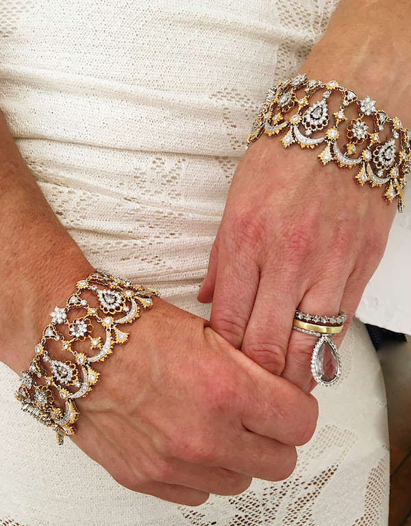 "Nina Runsdorf 22k diamond ""Transformer"" bracelets-1"