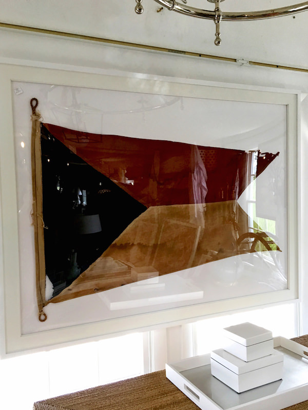vintage flags at Coast Home