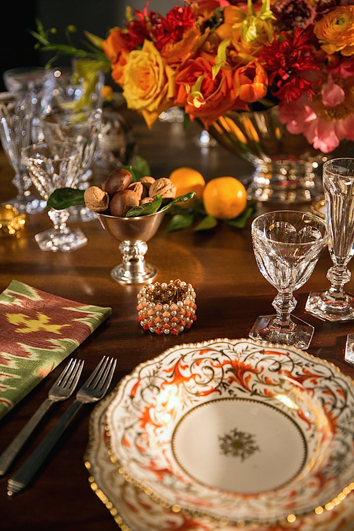 Setting a holiday table with Christie's