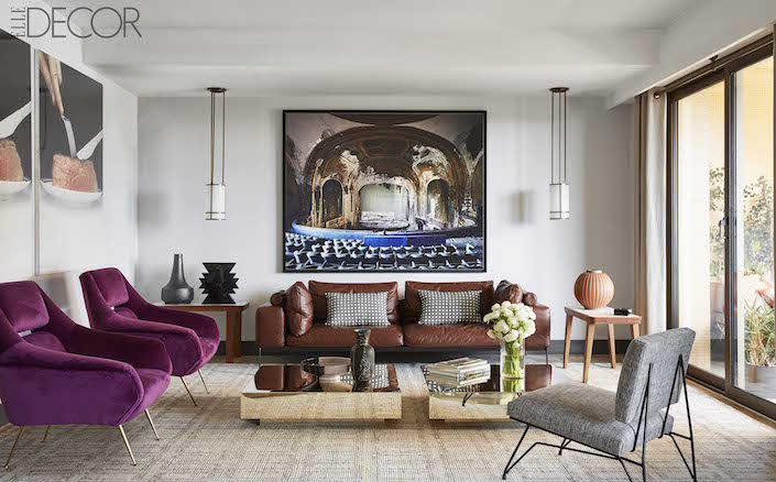 ELLE DECOR Global style issue - Humbert & Poyiet in Monte Carlo living room