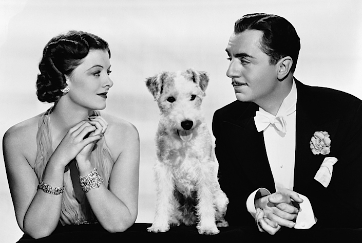 Myrna Loy, Asta and William Powell in the Thin Man
