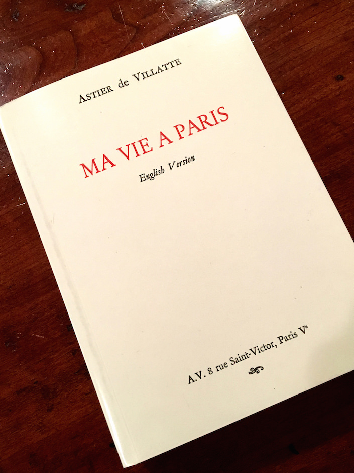 Astier de Villatte Ma Vie a Paris